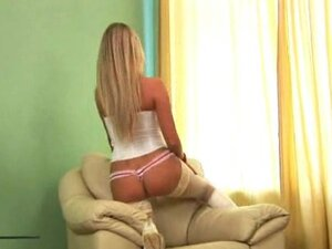 Horny Bitch in Kinky white boots likes to tease,