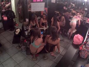 Strippers hanging out, Live feed from strip club