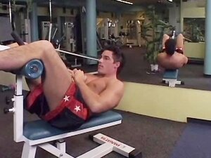 Sexy Gym Stud Jerking Off His Fat Uncut Cock