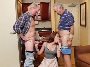 Teen cocksucking two old men