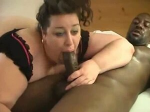 Black guy with big dick fuck and suck a fat white