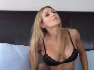 tease crazy hot blonde milf in stocking tight ass