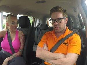 Fake Driving School Big Tits babe Fucks her
