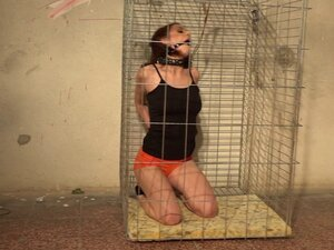 Bound and caged Antonia Sainz looking so tempting
