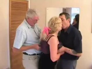 the swinger mature couple with a friend,
