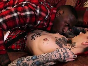 Kinky tattooed emo girl drilled deeply in her