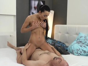 Old man shy girl first time Hot bang-out after a