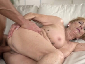 Cock loving granny enjoys a big cock in her pussy