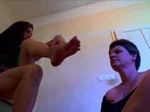 lesbian mature worship mistress feet