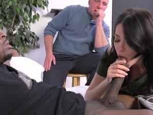 Cuckold watches Ava Dalush takes a black cock,