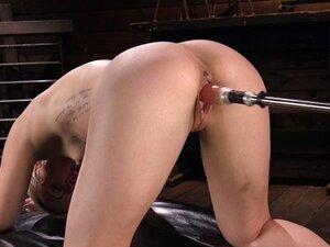 anal machine fucking and squirting