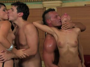 Beauties in a hardcore orgy party