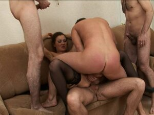 Gang Bang with a DP on a 48 yr old milf
