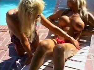 Busty Bikini Sluts Have Hot Fun With Oil, Two