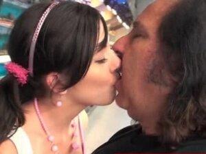 Hot teen seduces horny old man