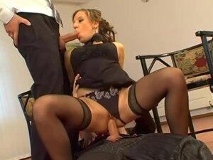 Black dress girl threesome sex