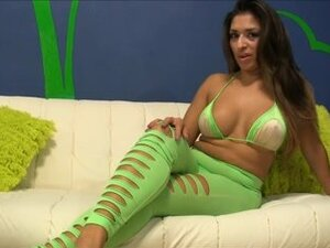 Curvy Latina shows all her wickedly hot goods,
