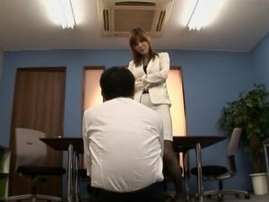 Horny Japanese girl in Incredible Office, Red Head