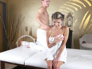Massage Rooms Tiny Gina Gerson takes big cock in