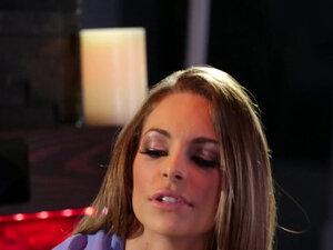 Lesbian masseuse rubbing cuffed booty dyke
