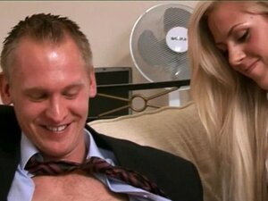 Cfnm blondes jerk and blow lucky guy