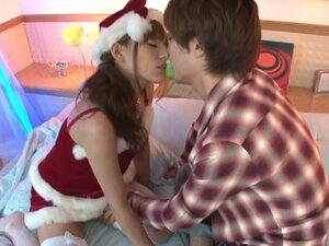 Japanese slut likes the Christmas holidays and