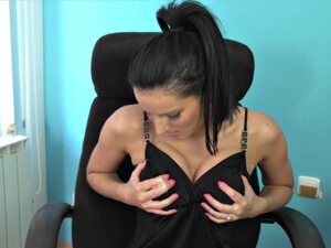Busty Secretary Fucks Herself on her Desk