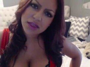 Hot Latina Babe Toys Pussy On Webcam