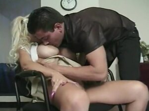 Busty Blond Teen Gets Naughty in Office, You don't