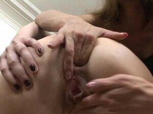 Olga punishes Sarah with a huge strapon anal dildo