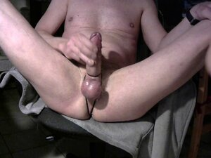 jerking my bondage dick and balls