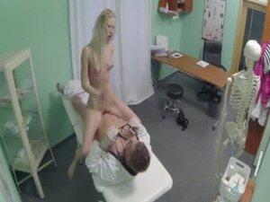 Blonde patient sucks and rides her doctors cock0 5
