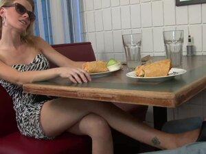FootWank CumBlast under table