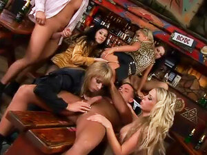 Bar is packed with horny babes