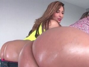 Two big ass girlfriends fingered in threesome