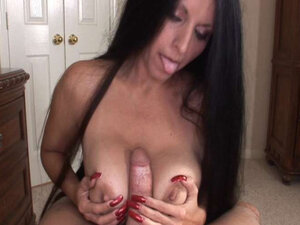 Busty Latina Blows and Gets Titty Fucked