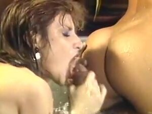 Hot threesome fuck in Jacuzzi, A real feast for