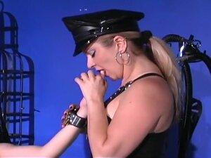 Mistress Teaches Busty Blonde A Lesson, Mistress