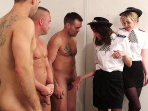 Femdom police babe Nadia Elainas facial