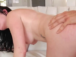 Babe gets ass and pussy plowed