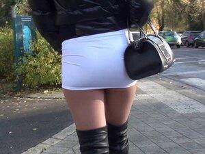 PUBLIC Sexy mini skirt & overknee boots Gianmarco