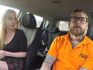 Fake driving instructor fucking blonde pov