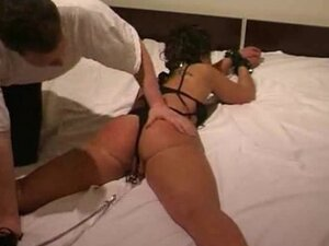 Sexy Brunette Slave Tied In A Sexy Elroom bdsm
