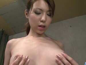 Rino Asuka plays with toys deep down her hairy