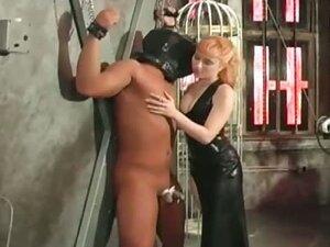 Hot brunette mistress gets this man tied part6