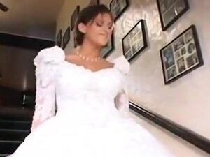 Delicious Bride In Wedding Day Three-Some,By
