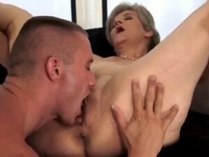 Blondy pretty granny with saggy tits & flabby