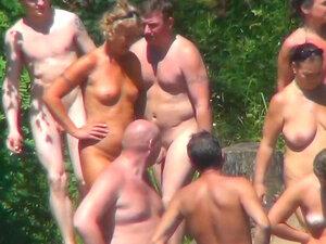 Hot voyeur scene from nudist beach