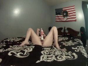 Vibrator In Pretty Pink Pussy, Cute long hair