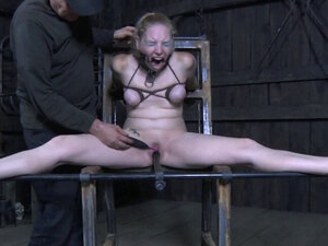 Dominated beauty being whipped by master